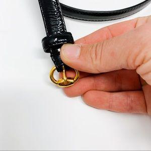 Gucci Accessories - GUCCI Black Patent Leather Gold Buckle Belt 85 cm